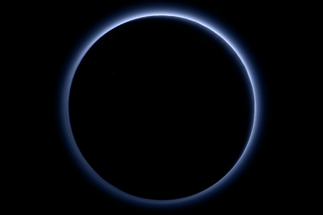 Blue Sky On Pluto New Horizons