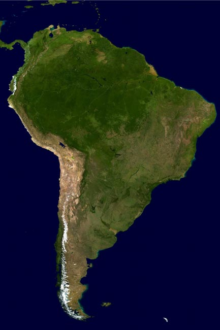South America Satellite Image