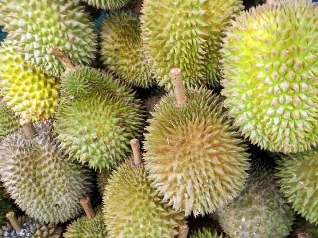 Durians are famous for being foul-smelling, but surprisingly good to eat.