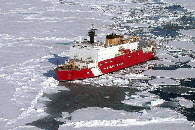 Icebreaker In The Southern Ocean