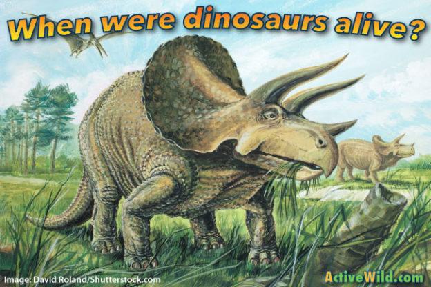 When were dinosaurs alive