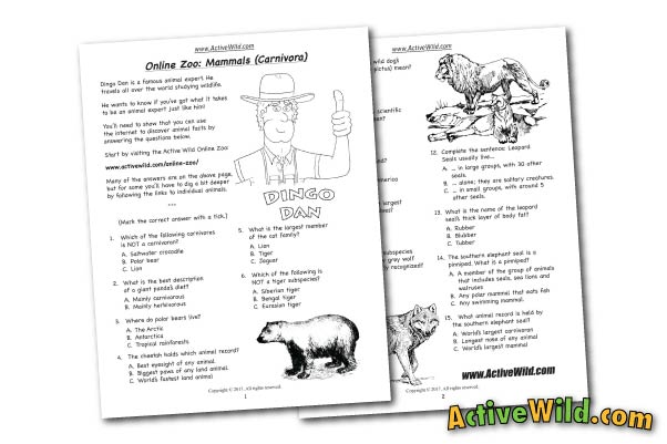 Free Printable Worksheets For Teachers & Parents - Wildlife And ...