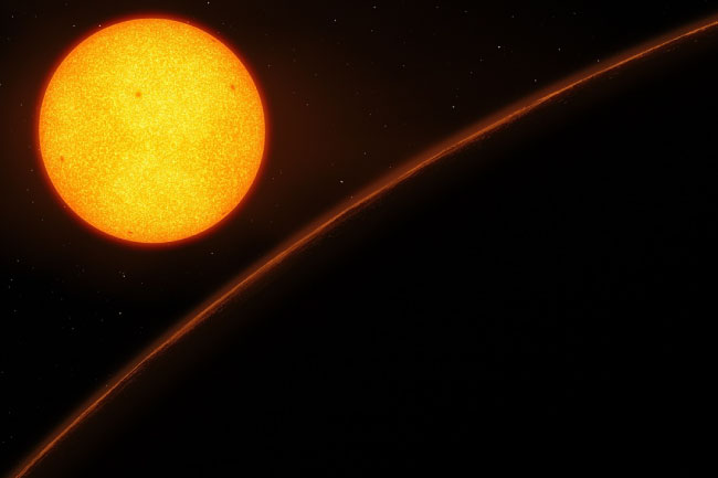 TRAPPIST-1 star from a planet