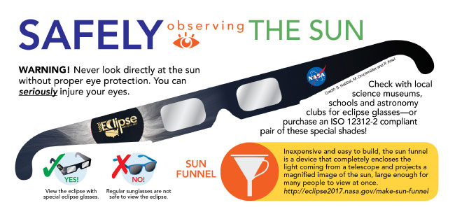 nasa eclipse safety instructions