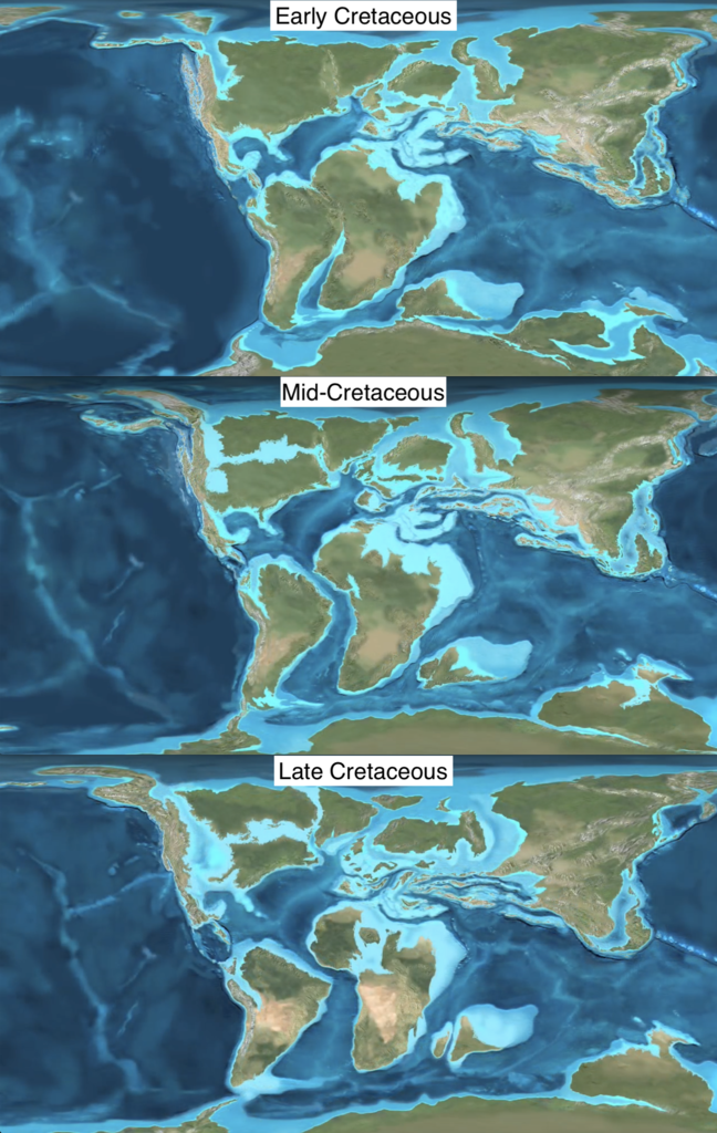 Earth in the Cretaceous Period