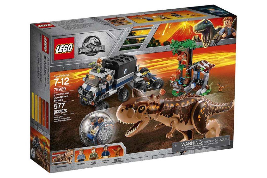 LEGO Jurassic World Carnotaurus Gyrosphere Escape Kit