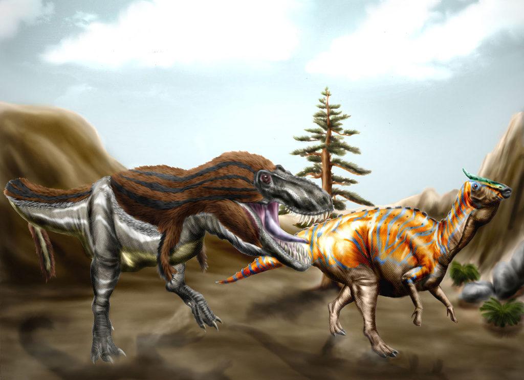 Tarbosaurus_and_Saurolophus