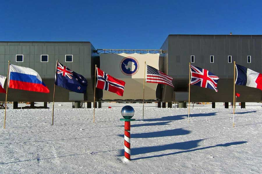 Research Station on Antarctica