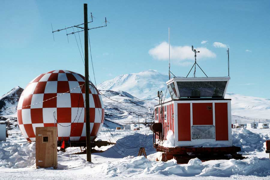 Research base on Antarctica