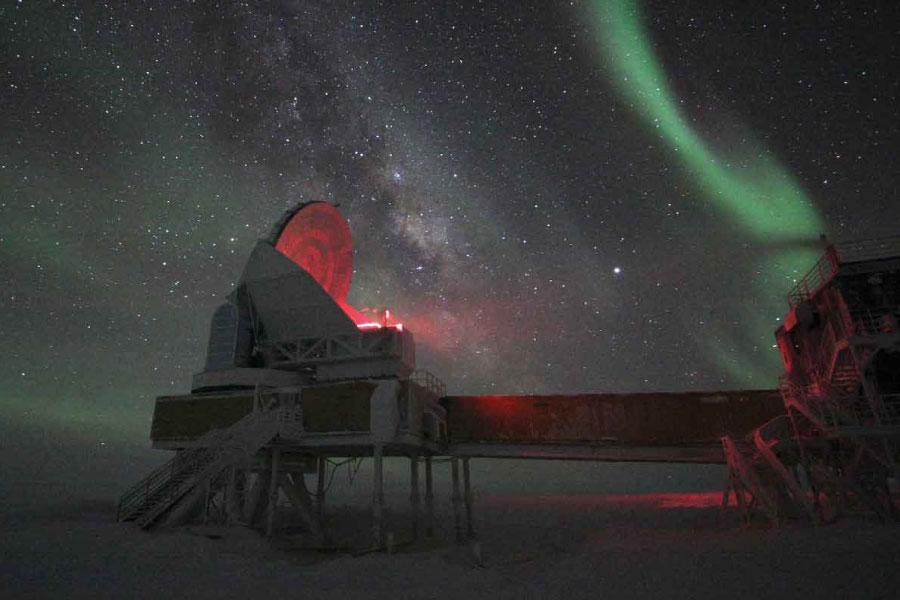 South Pole Telescope in Antarctica