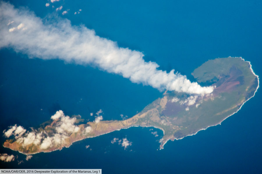 Mariana Island From Space