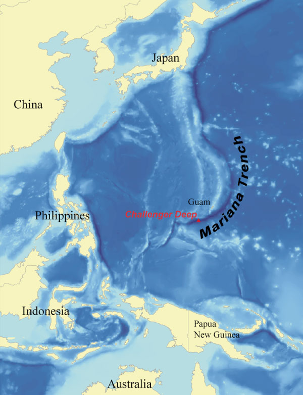 Mariana Trench Location