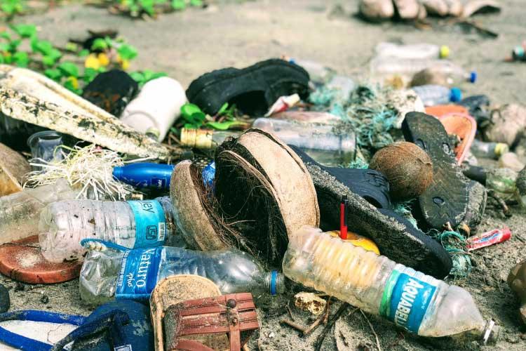 Plastic Pollution on a beach